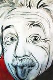 街道画阿尔伯特・爱因斯坦画象 免版税库存图片