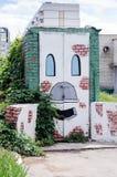 街道画,画烤箱 免版税库存照片