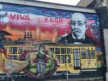 街道画, Ybor市,坦帕,佛罗里达 免版税库存图片