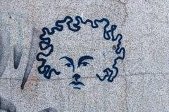 街道画头 免版税库存照片