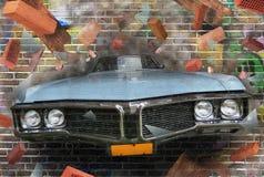 街道画 库存图片