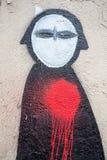 巴黎街道画 库存照片