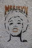 巴黎街道画 免版税图库摄影