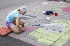 街道绘画 免版税库存照片