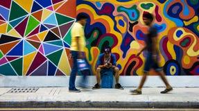 街道绘画 免版税图库摄影