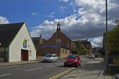 街道Coatbridge,北拉纳克郡在苏格兰在英国, 08 08 2015年 库存照片