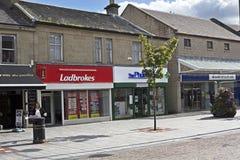 街道Coatbridge,北拉纳克郡在苏格兰在英国, 08 08 2015年 免版税图库摄影