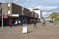 街道Coatbridge,北拉纳克郡在苏格兰在英国, 08 08 2015年 图库摄影