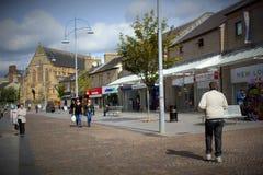 街道Coatbridge,北拉纳克郡在苏格兰在英国, 08 08 2015年 免版税库存照片
