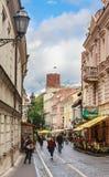 街道Didzioji,维尔纽斯 立陶宛 免版税库存照片