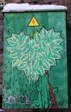 街道graffit绿色心脏 免版税库存图片