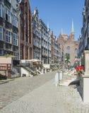 街道mariacka gdañsk波兰欧洲 库存照片