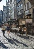 街道mariacka gdañsk波兰欧洲 免版税库存照片