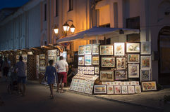 街道Nessebar 免版税图库摄影