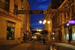 街道podhorskÃ从eurocentrum的¡方向 免版税库存图片