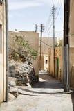 街道Saiq高原 图库摄影