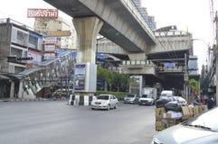 街道ViewSukhumvit路在曼谷泰国 库存照片