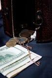 衡量单位、硬币和金子 免版税库存照片