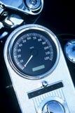 衡量摩托车速度 免版税库存图片