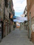 洗衣店天在威尼斯,意大利 库存图片