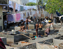 洗衣店天在孟买 免版税库存照片
