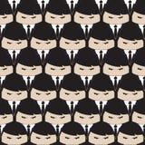 黑衣服人字符样式 库存照片
