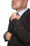 衣服和领带的秃头人 免版税库存照片