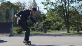 衣服的溜冰者去把戏, Heelflip 股票视频