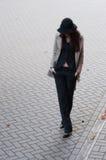 衣服的秋天时髦的企业夫人 免版税库存照片