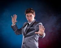 年轻魔术师 库存照片