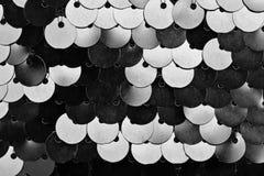 衣服饰物之小金属片作为背景的织品纹理, 库存图片
