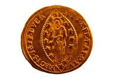 衣服饰物之小金属片-古金币-威尼斯金币  免版税库存图片