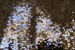 衣服饰物之小金属片-闪耀的闪光金属片的纺织品 免版税库存照片