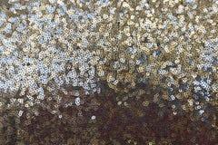 衣服饰物之小金属片-闪耀的闪光金属片的纺织品 免版税图库摄影