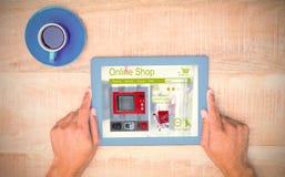 洗衣机的综合图象在网页显示的待售 免版税库存照片