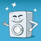 洗衣机被说明的字符 免版税库存照片