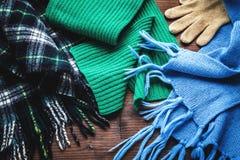 衣物为冬天 免版税库存图片