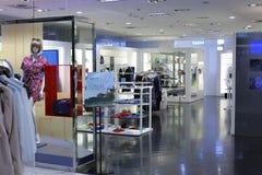衣物商店在台北101购物的区 库存图片