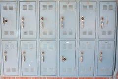 衣物柜学校 免版税库存照片