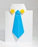 衣物纸origami设计 库存图片
