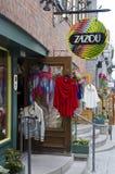 衣裳商店在魁北克历史城区 免版税库存图片