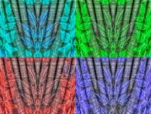 衣裳在四种颜色构造 库存照片