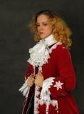 衣裳塑造了法国老妇人 免版税库存图片