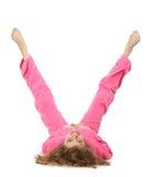 衣裳女孩信函粉红色表示v 图库摄影