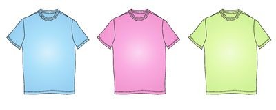 衣裳方式例证塑造衬衣t 免版税图库摄影