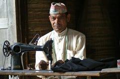 衣裳用机器制造缝合缝合泰勒 库存图片