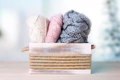 衣裳编织了 羊毛针织品 免版税库存照片