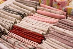 衣裳部分红色选择 免版税库存图片