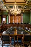 衣阿华状态国会大厦最高法院室 免版税库存照片
