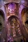 补偿圆顶玻璃被弄脏的寺庙视窗 库存图片